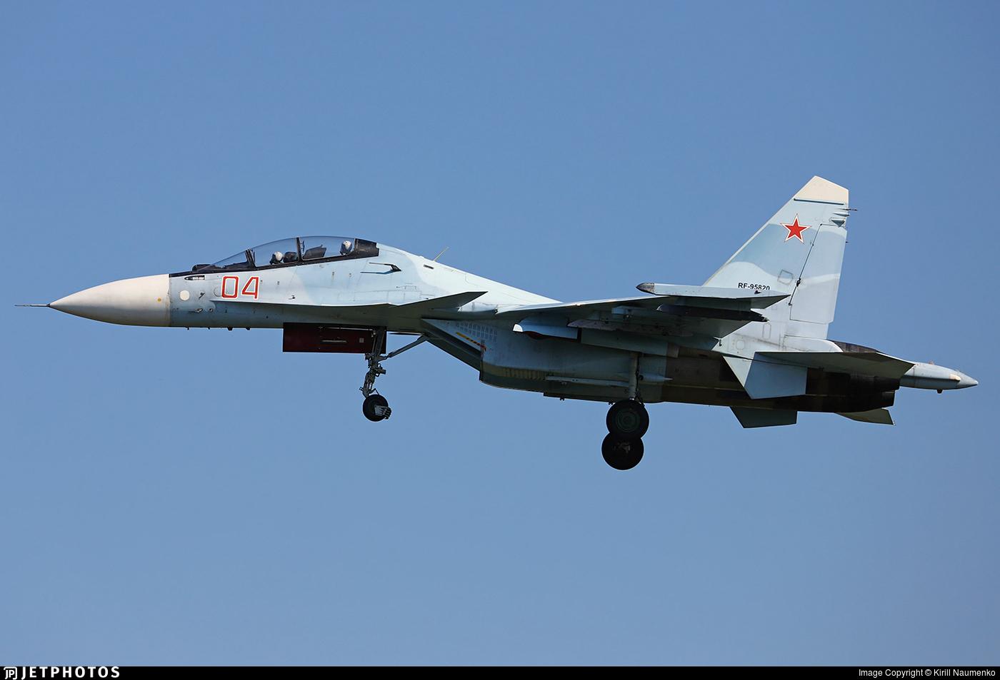 RF-95820 - Sukhoi Su-30SM - Russia - Air Force