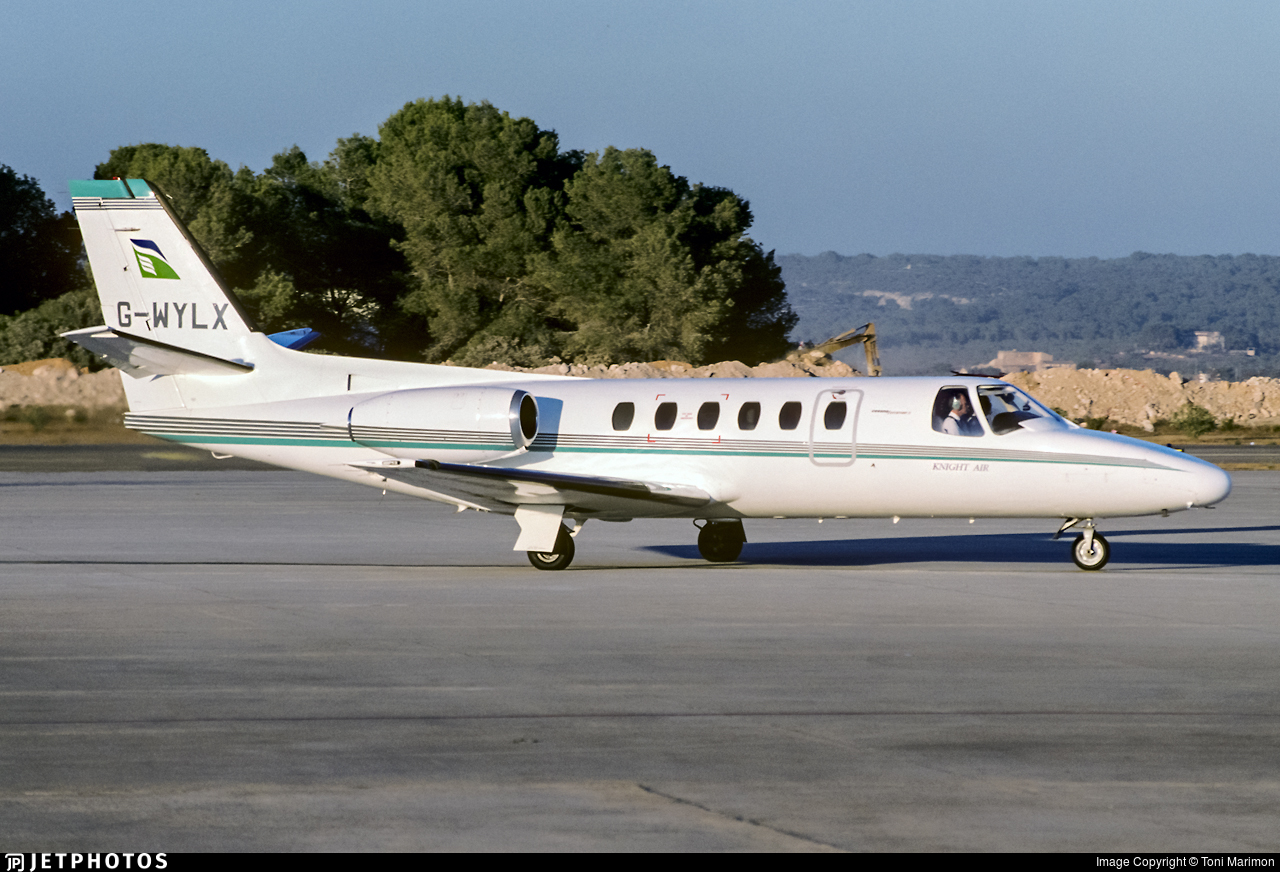 G-WYLX - Cessna 550 Citation II - Knight Air