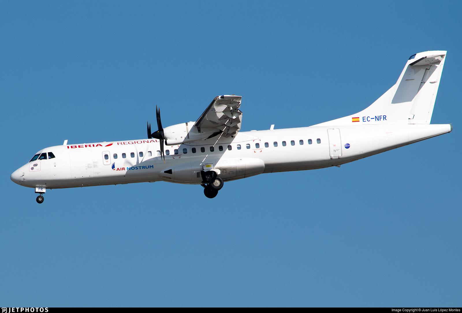EC-NFR - ATR 72-212A(600) - Iberia Regional (Air Nostrum)