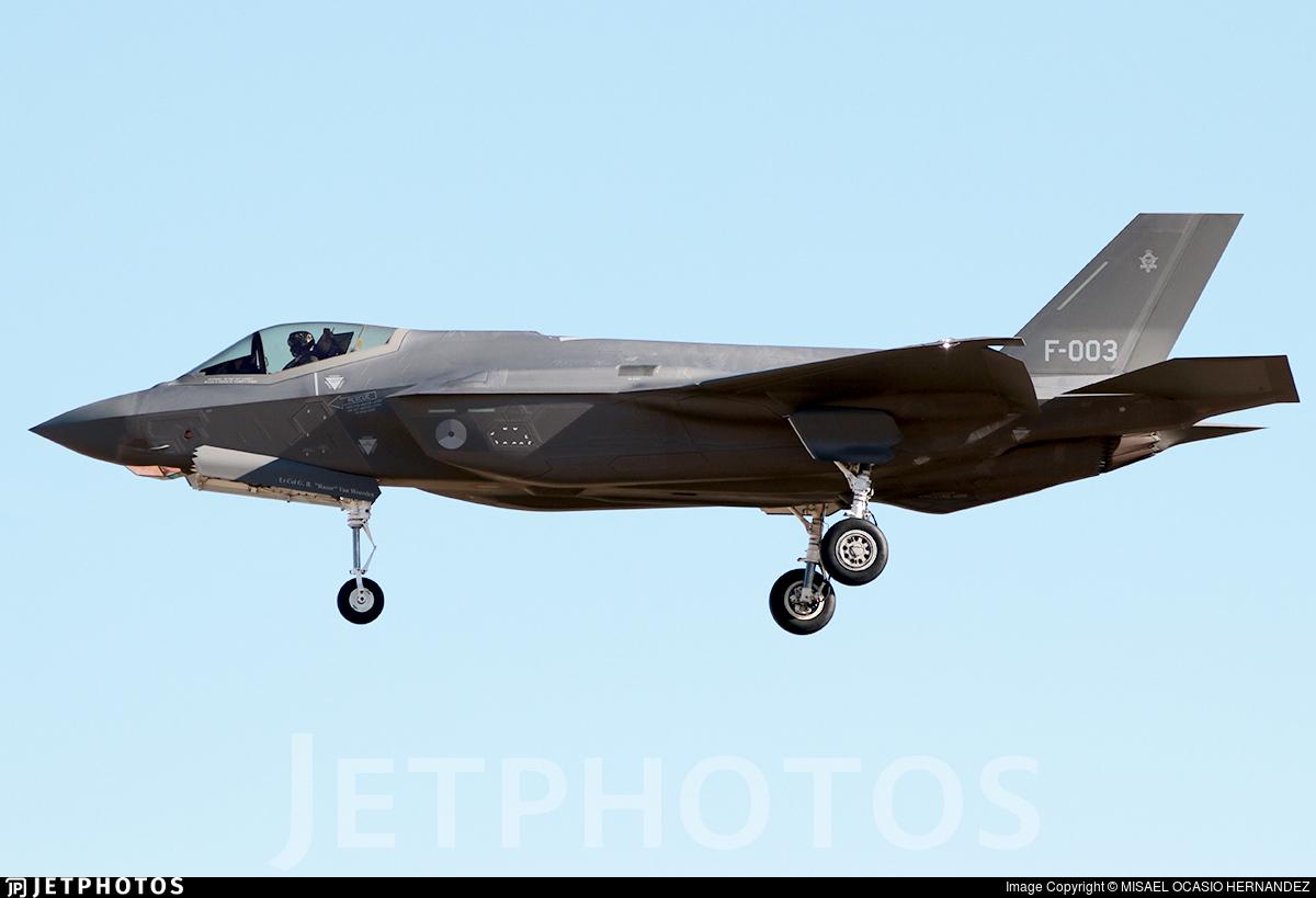 F-003 - Lockheed Martin F-35A Lightning II - Netherlands - Royal Air Force