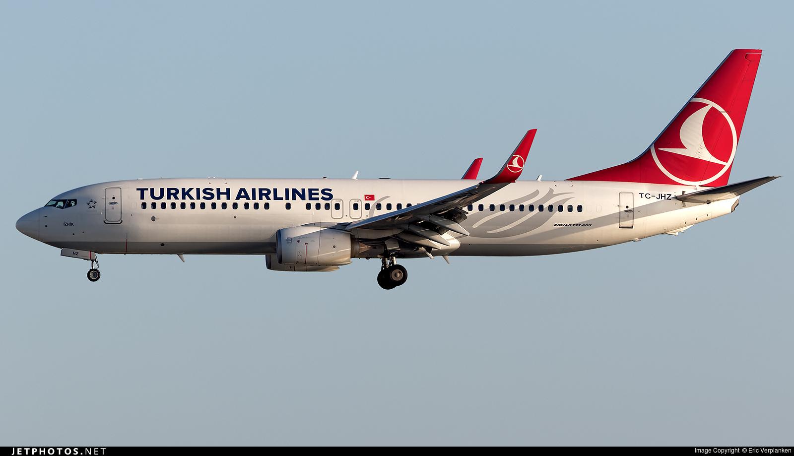 TC-JHZ - Boeing 737-8F2 - Turkish Airlines