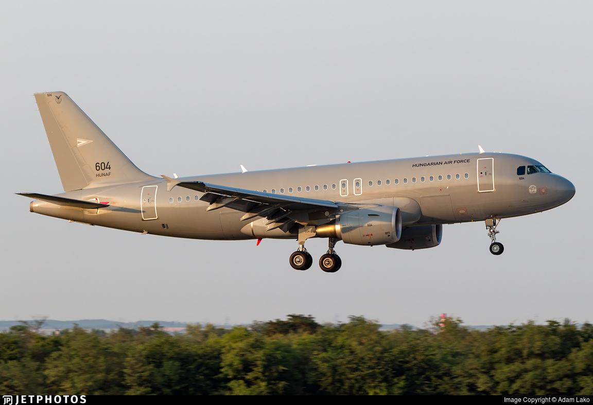 604   Airbus A319-112   Hungary - Air Force   Adam Lako