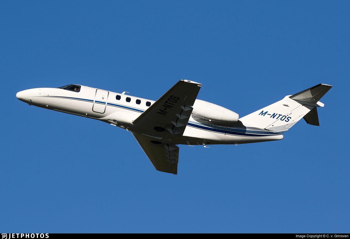 M-NTOS - Cessna 525 Citationjet CJ4 - Private