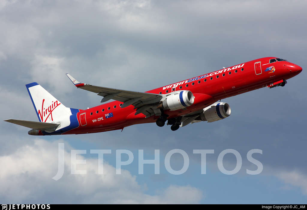 VH-ZPE - Embraer 190-100IGW - Virgin Blue Airlines