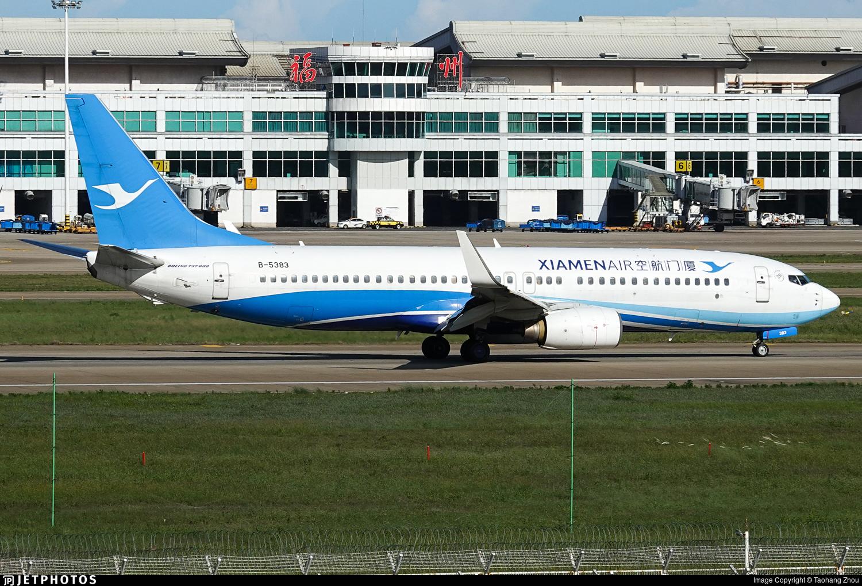 B-5383 - Boeing 737-86N - Xiamen Airlines