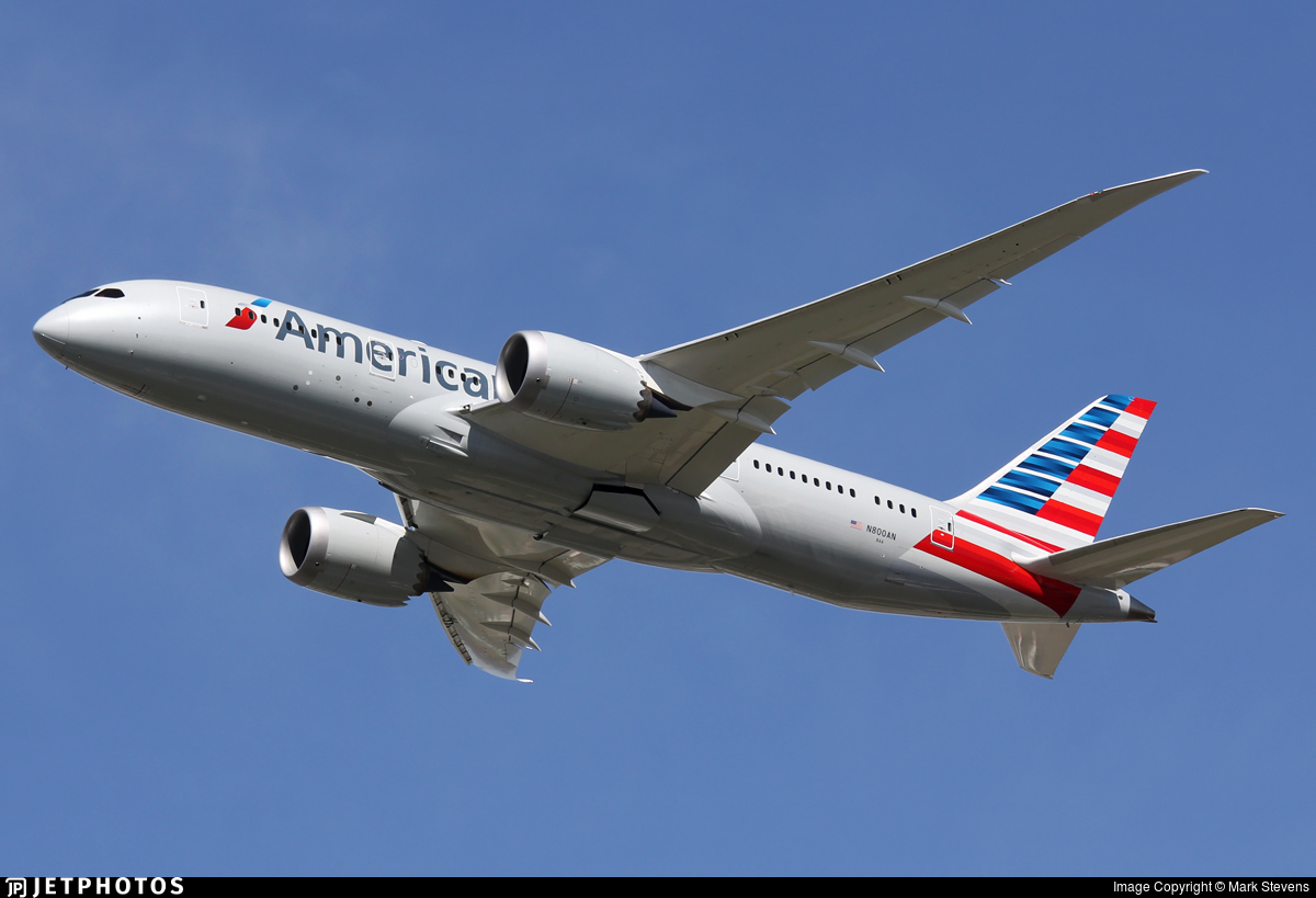 N800AN - Boeing 787-8 Dreamliner - American Airlines