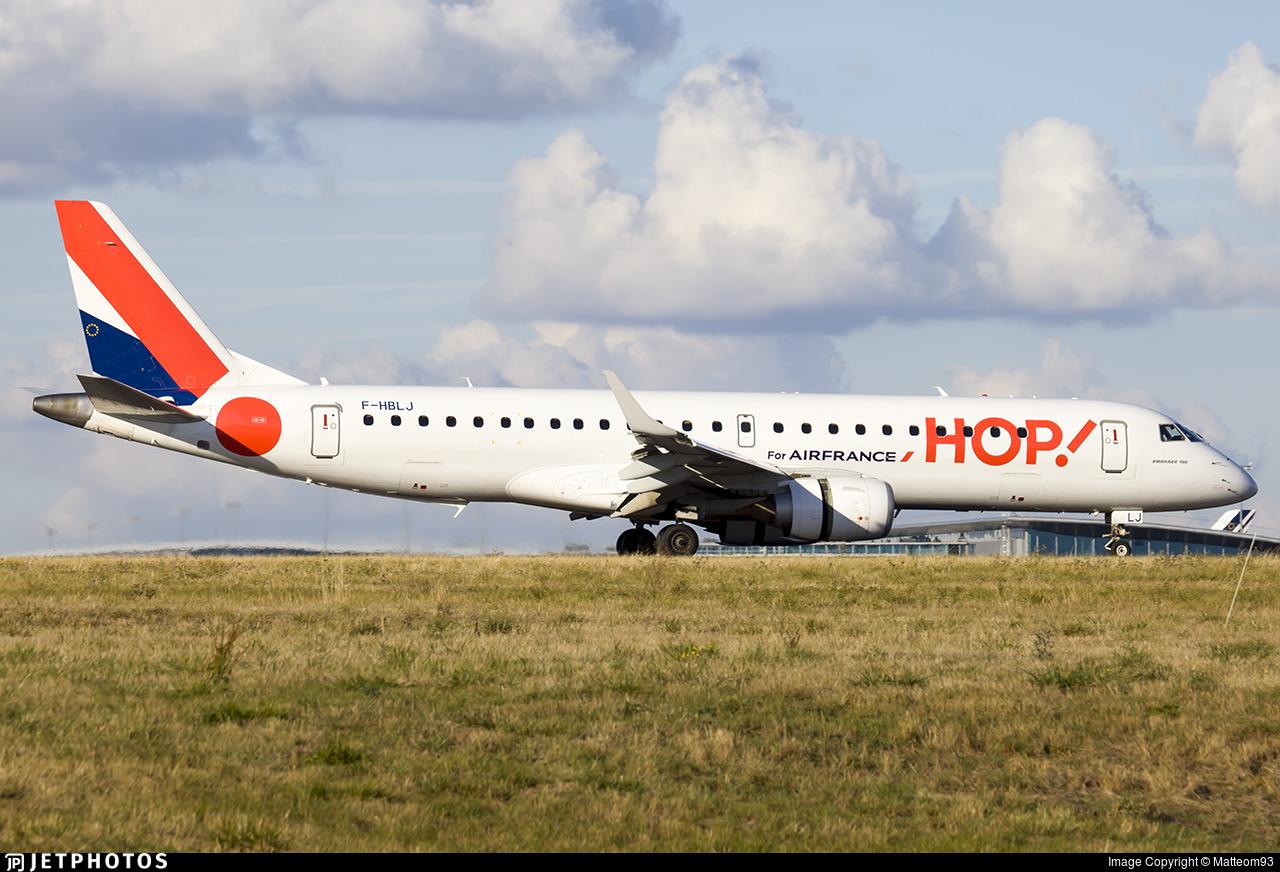 F-HBLJ - Embraer 190-100STD - HOP! for Air France