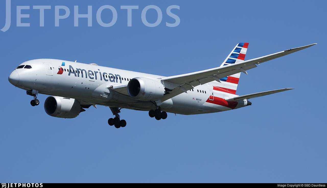 N801AC - Boeing 787-8 Dreamliner - American Airlines