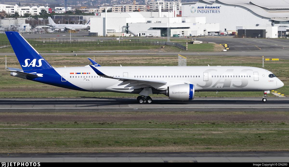 F-WZNL - Airbus A350-941 - Scandinavian Airlines (SAS)