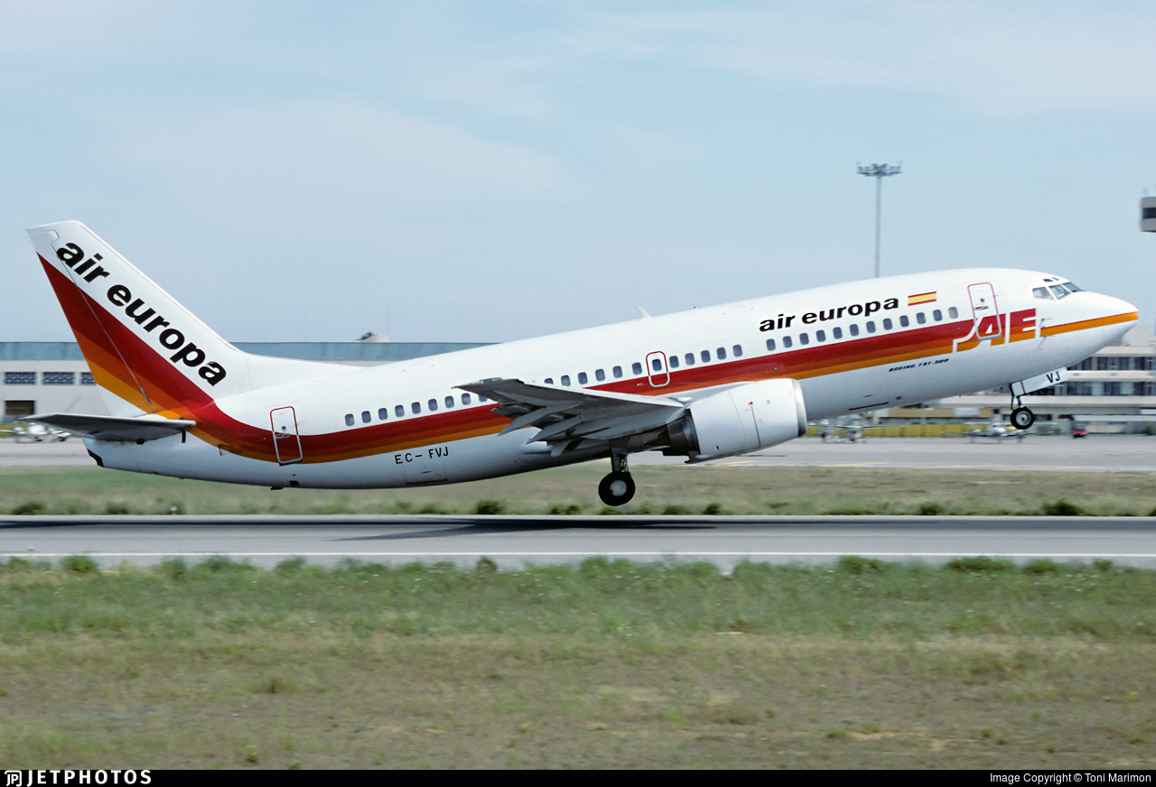 EC-FVJ - Boeing 737-3Y0 - Air Europa