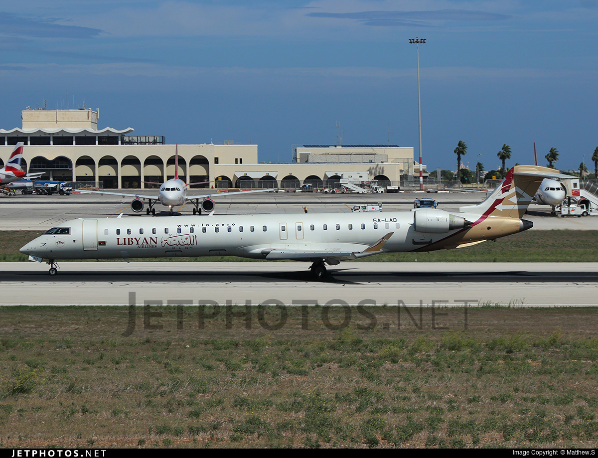 5A-LAD - Bombardier CRJ-900 - Libyan Airlines