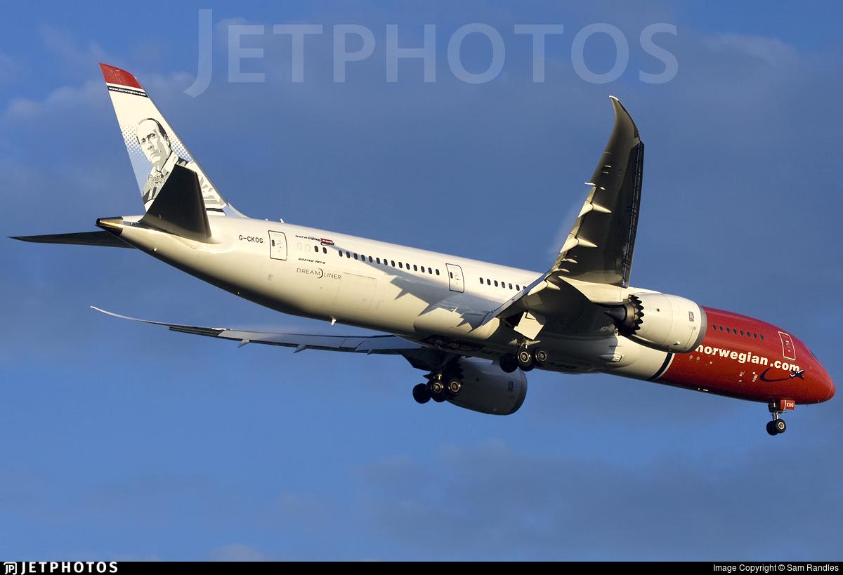 G-CKOG - Boeing 787-9 Dreamliner - Norwegian