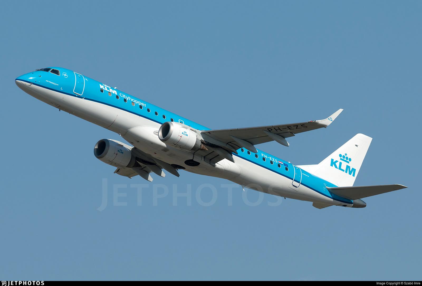 PH-EZS - Embraer 190-100STD - KLM Cityhopper
