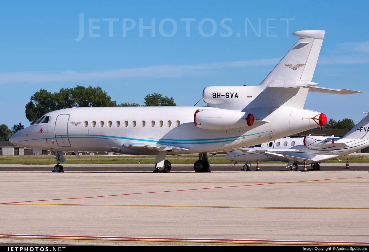 9H-SVA - Dassault Falcon 900B - Private