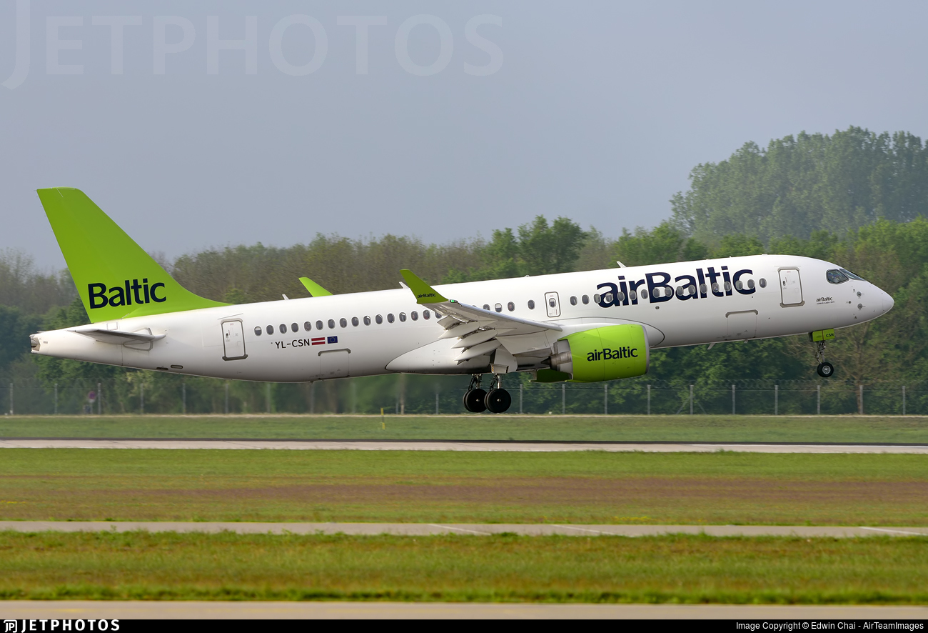 YL-CSN - Airbus A220-300 - Air Baltic