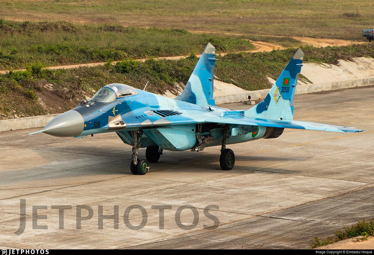 36506 - Mikoyan-Gurevich MiG-29SE Fulcrum C - Bangladesh - Air Force