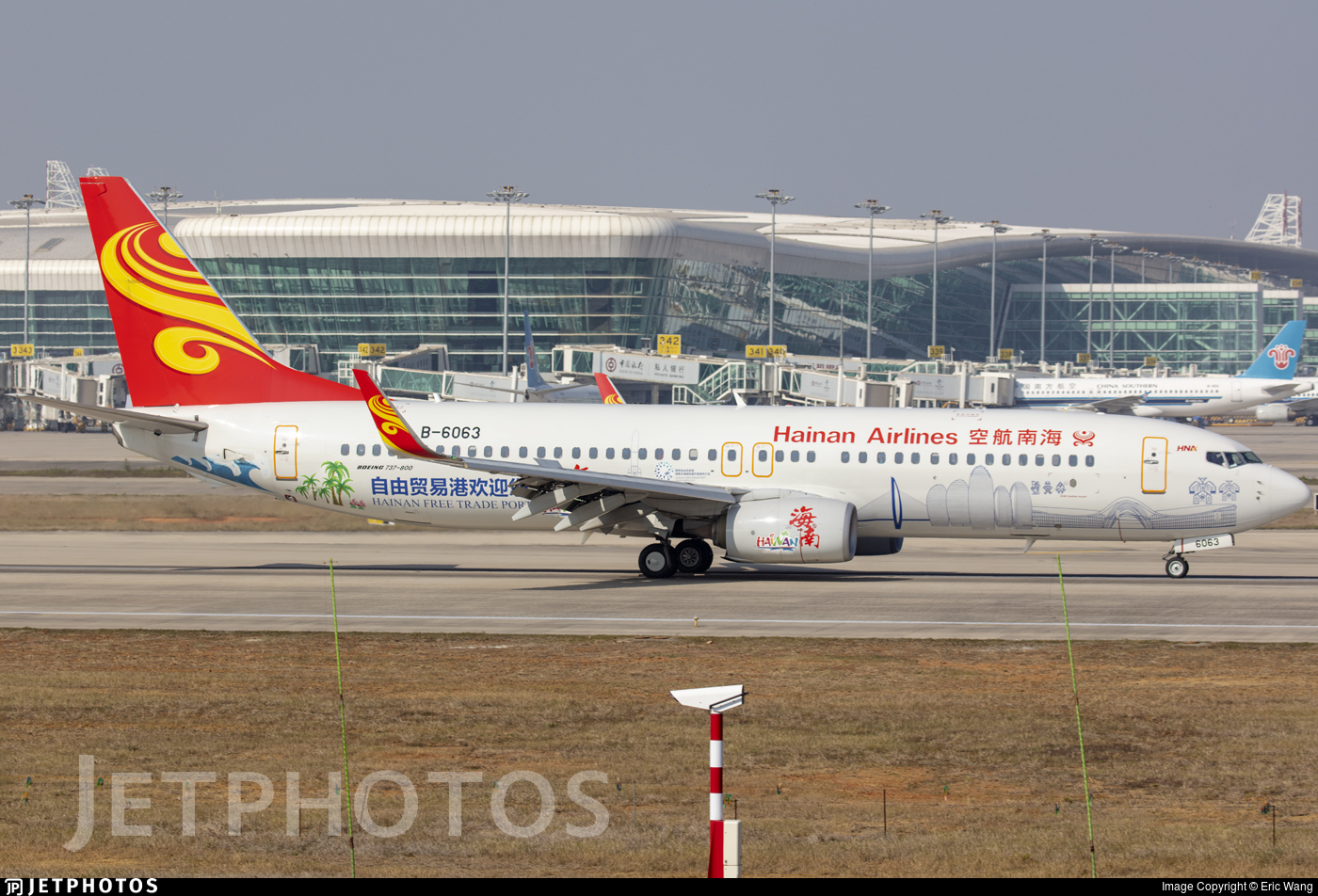B-6063 - Boeing 737-84P - Hainan Airlines
