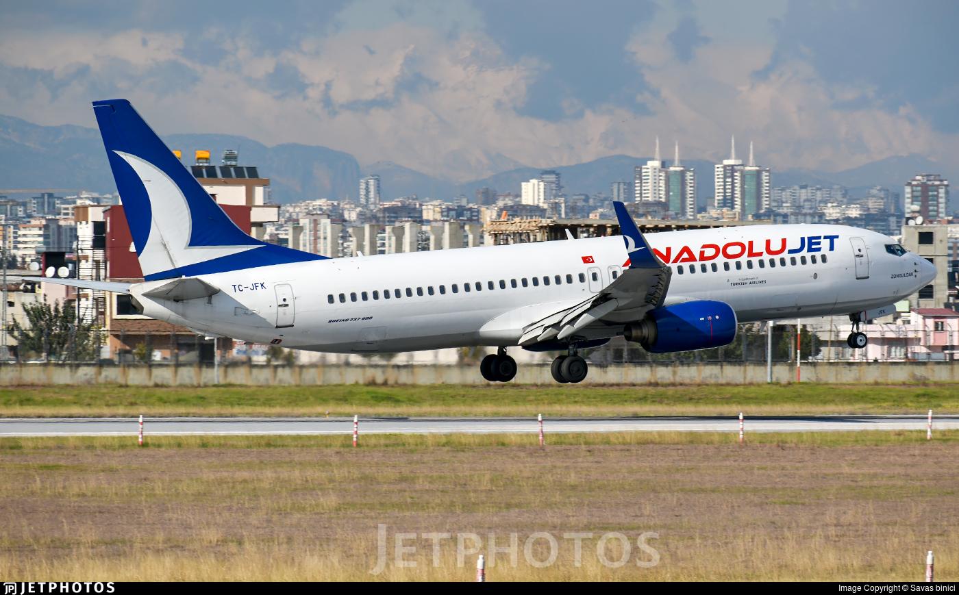 TC-JFK - Boeing 737-8F2 - AnadoluJet