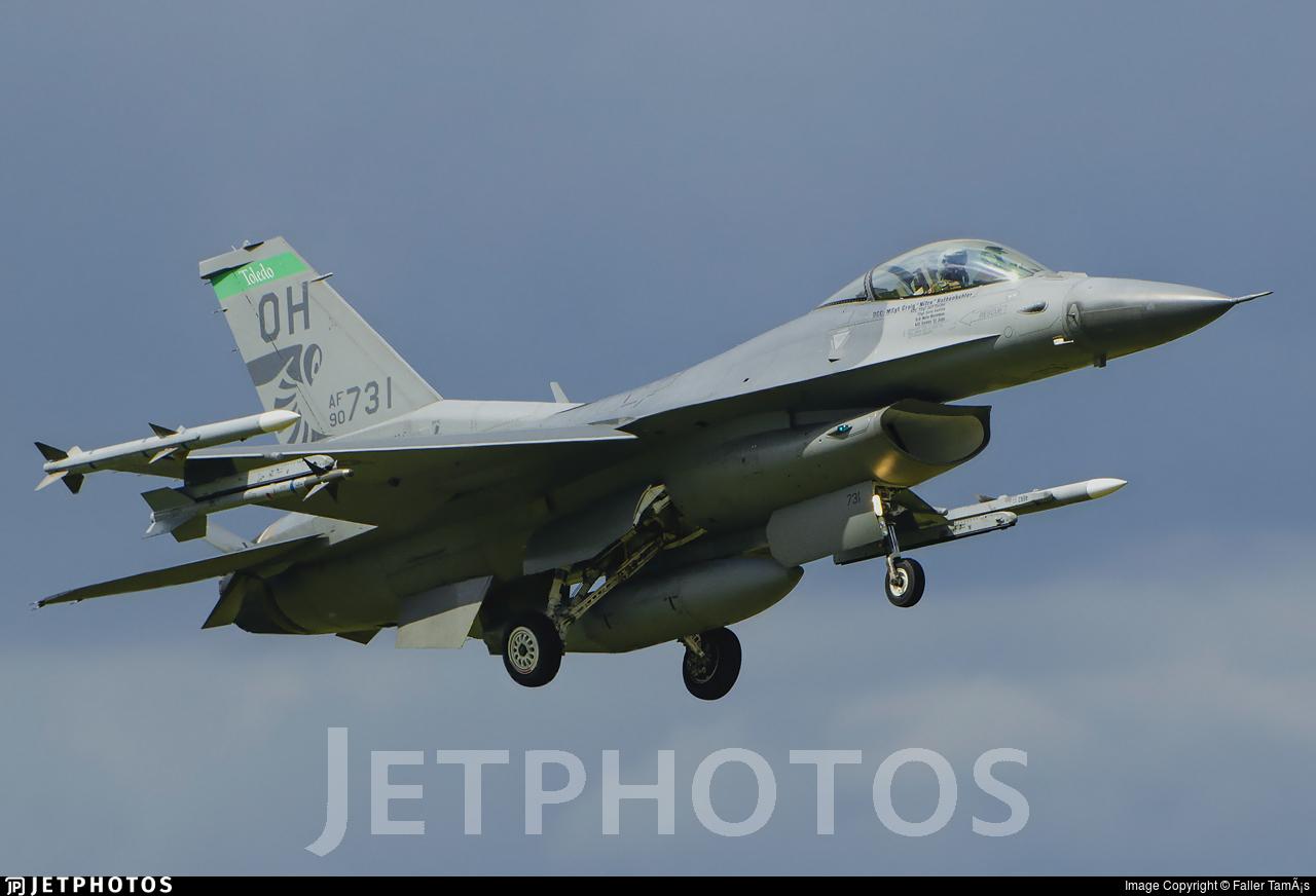 90-0731 - General Dynamics F-16CG Fighting Falcon - United States - US Air Force (USAF)
