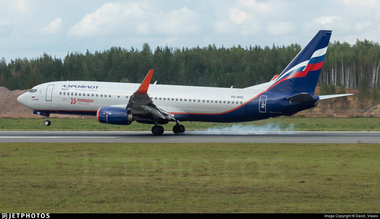VQ-BHC - Boeing 737-8LJ - Aeroflot