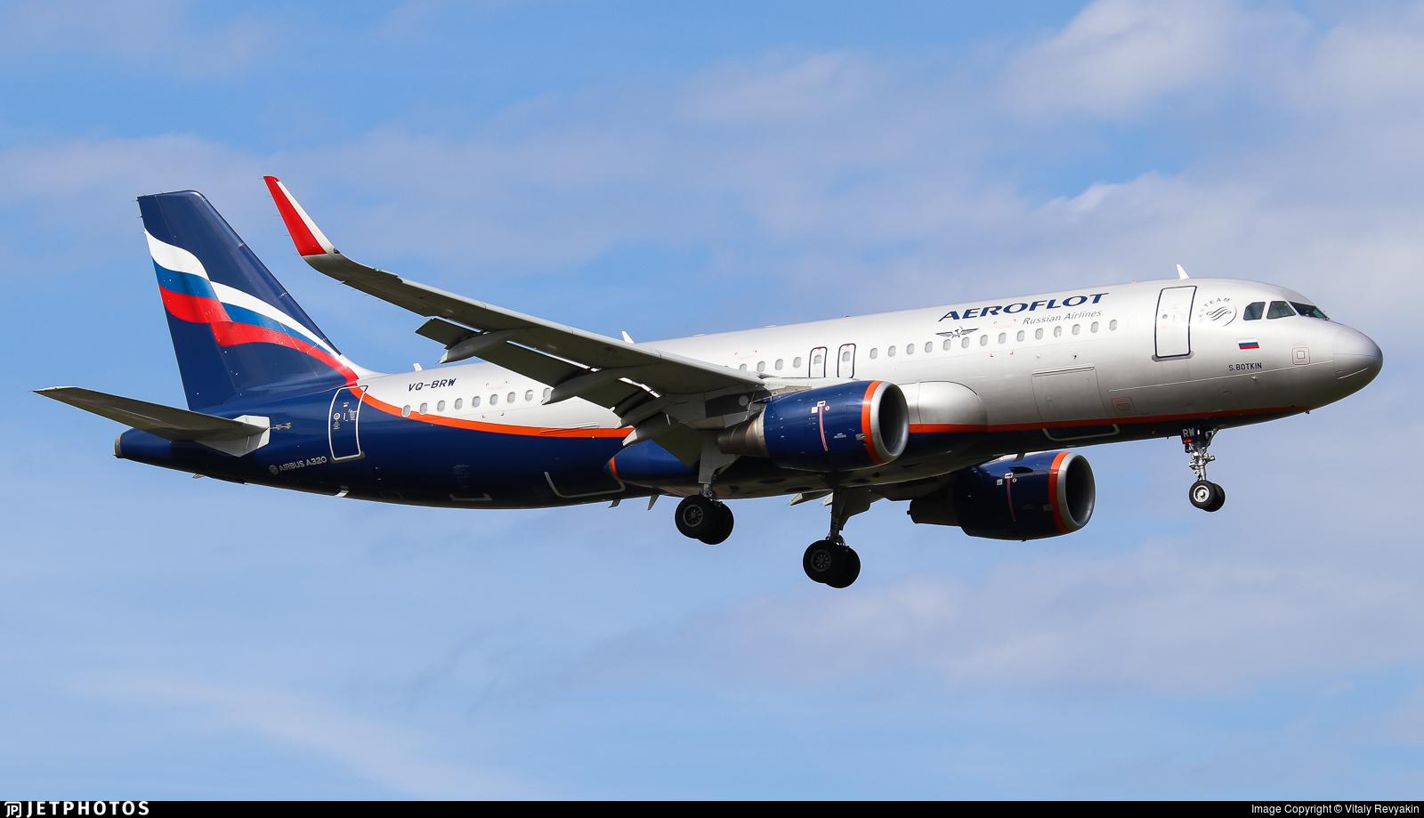 VQ-BRW - Airbus A320-214 - Aeroflot