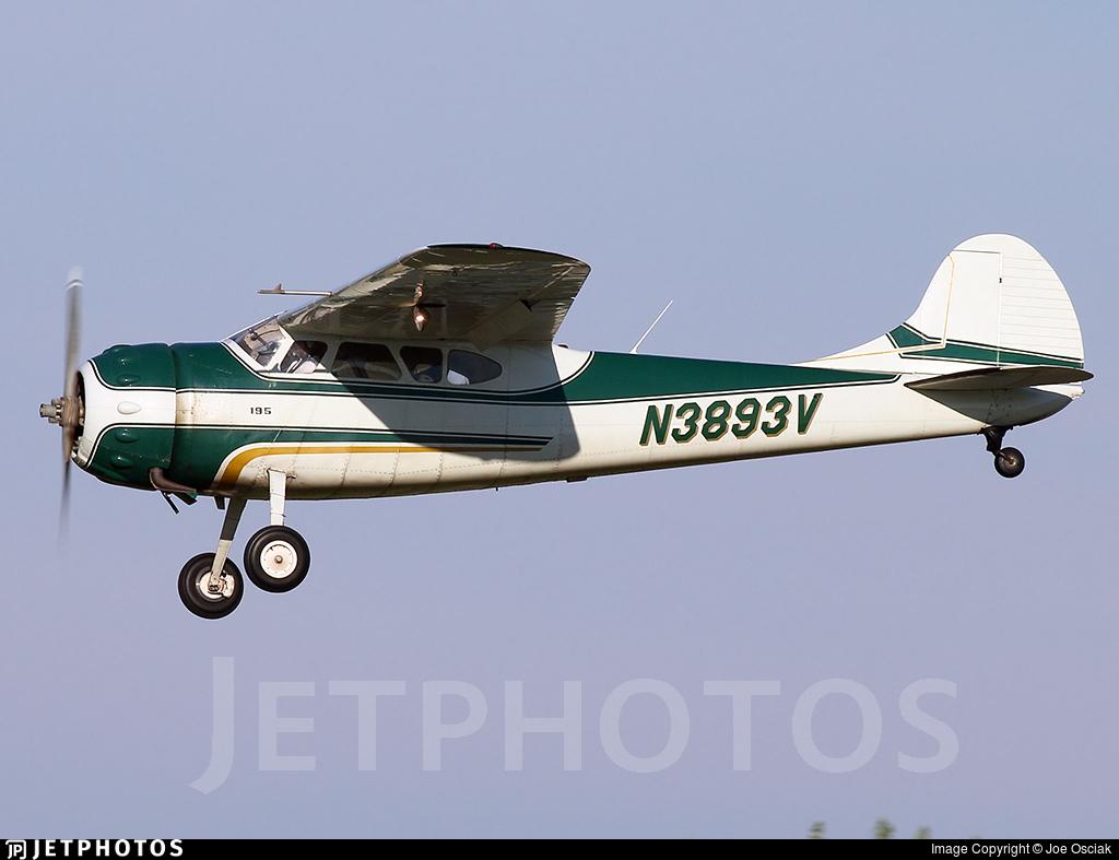 N3893V - Cessna 195 - Private