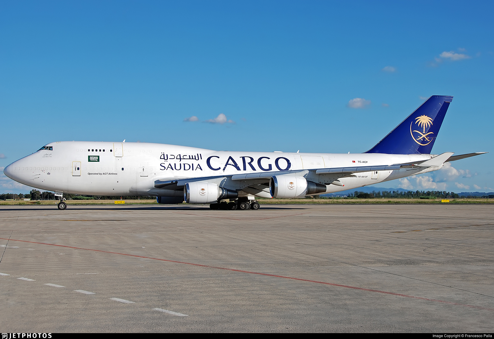 TC-ACF - Boeing 747-481(BDSF) - Saudi Arabian Airlines Cargo (ACT Airlines)