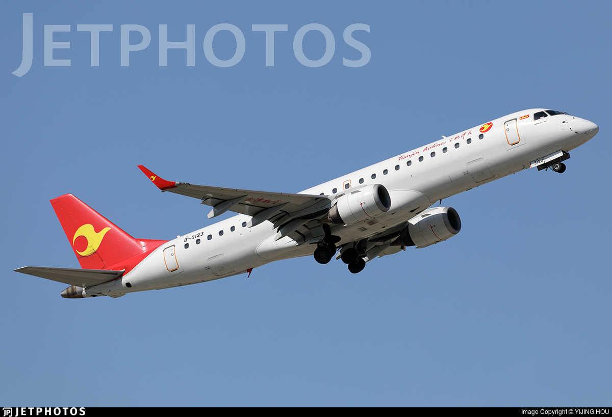 B-3123 - Embraer 190-100IGW - Tianjin Airlines