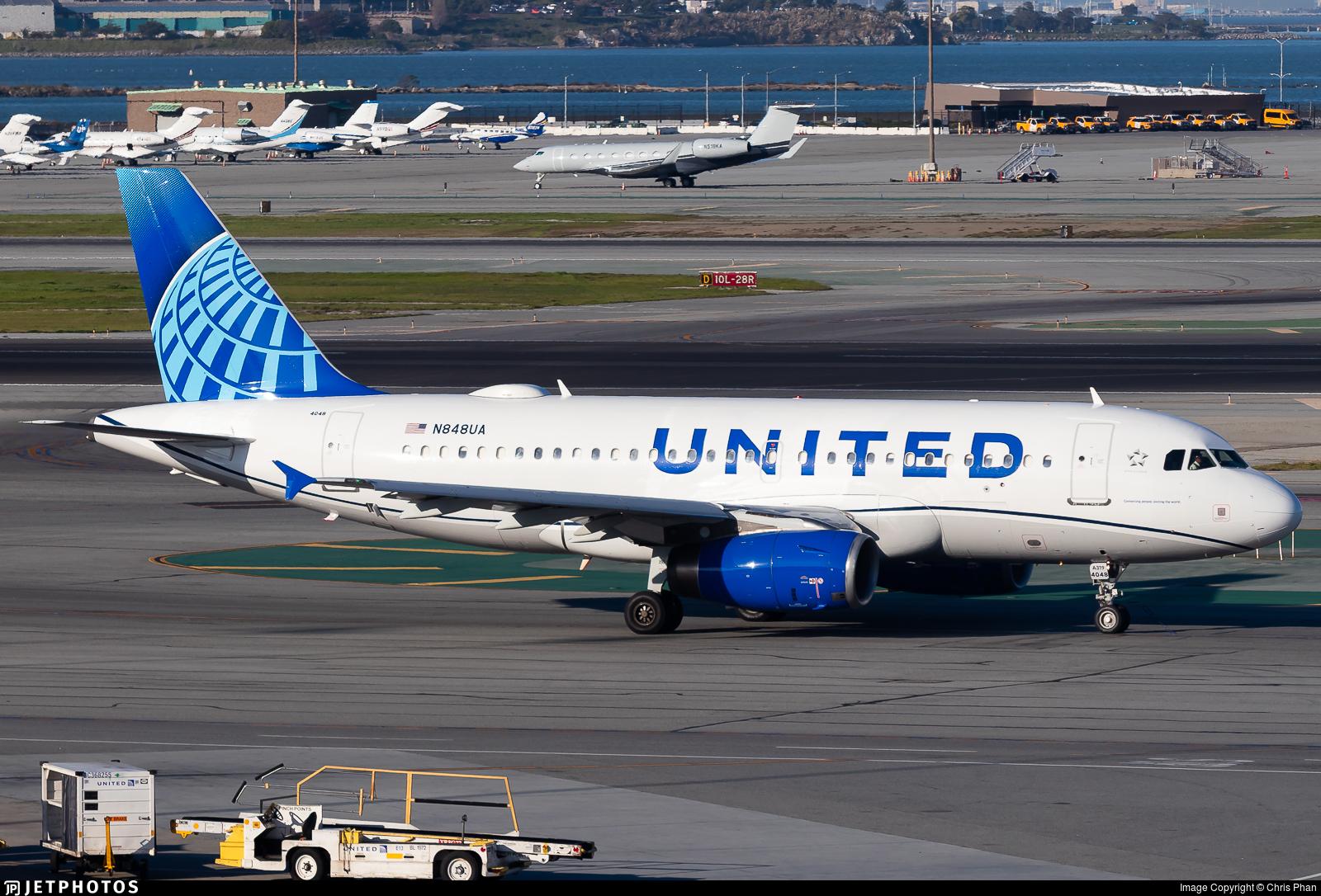 N848UA - Airbus A319-131 - United Airlines