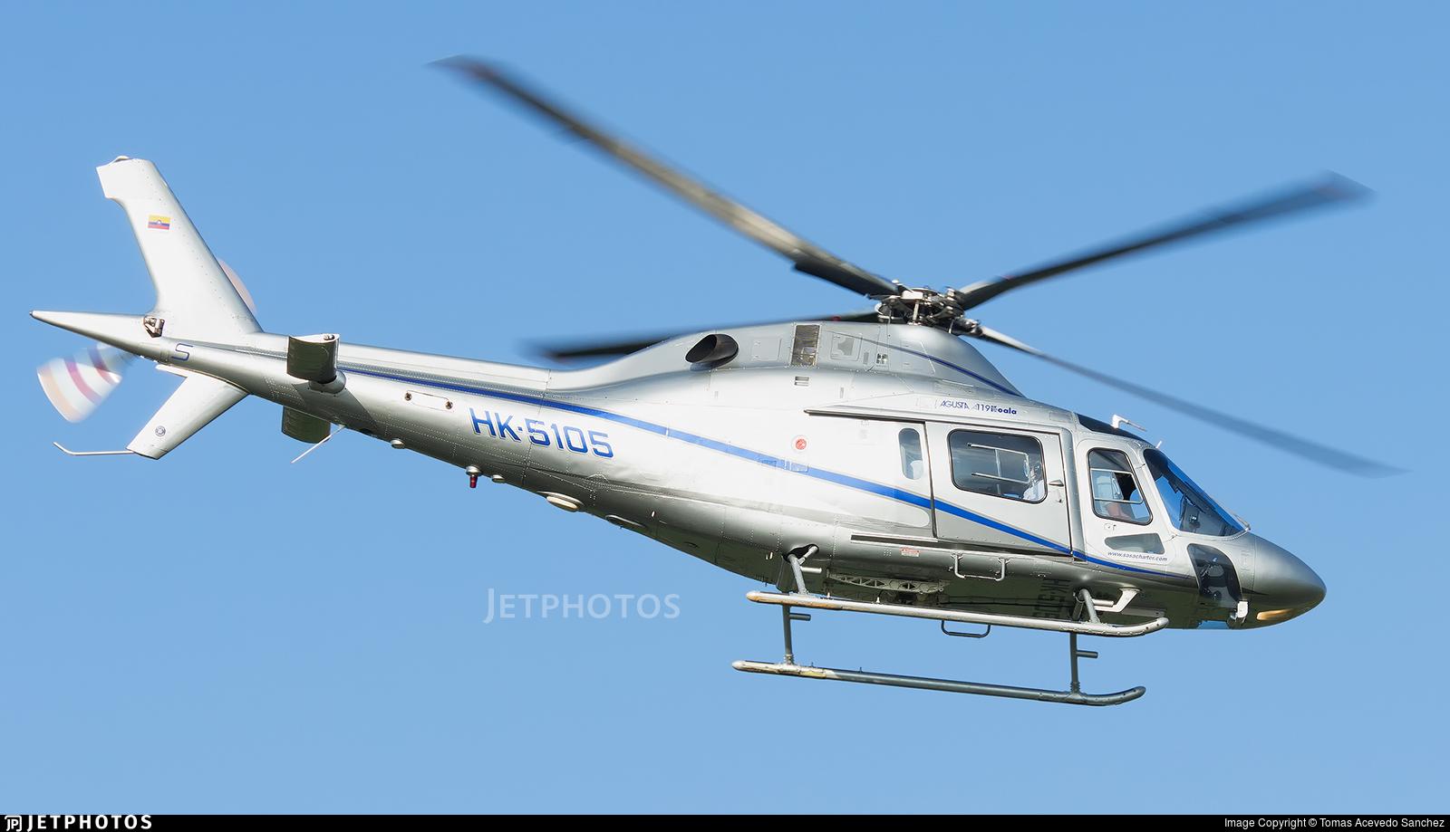 HK-5105 - Agusta A119 Koala - Sociedad Aeronáutica de Santander (SASA)