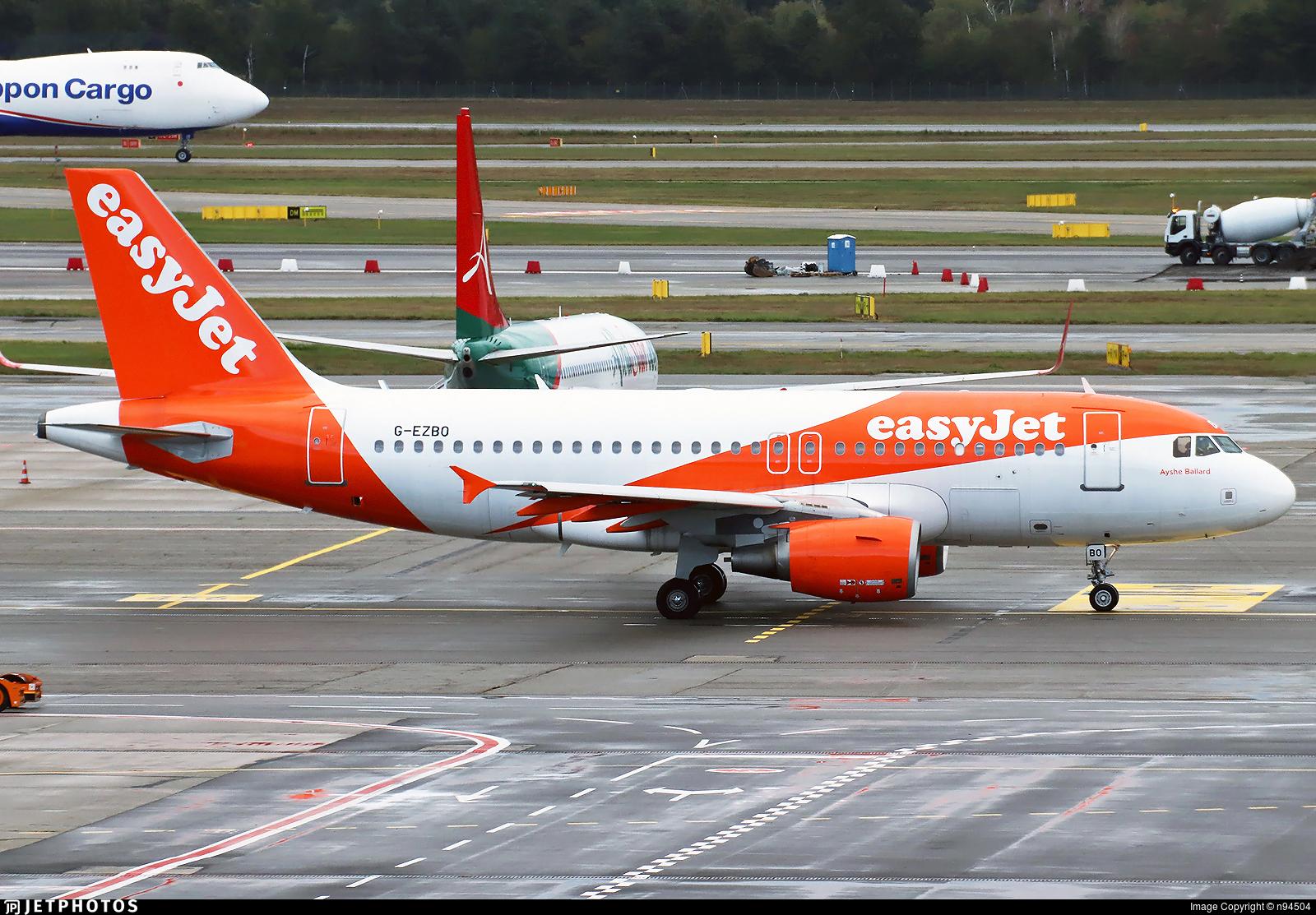 G-EZBO - Airbus A319-111 - easyJet
