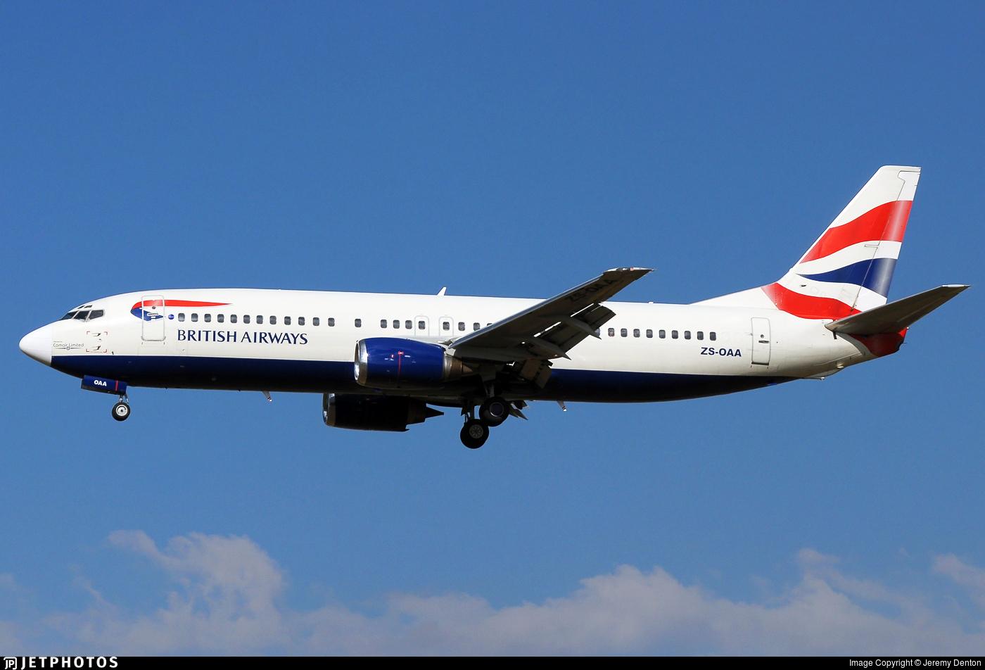 ZS-OAA - Boeing 737-4L7 - British Airways (Comair)