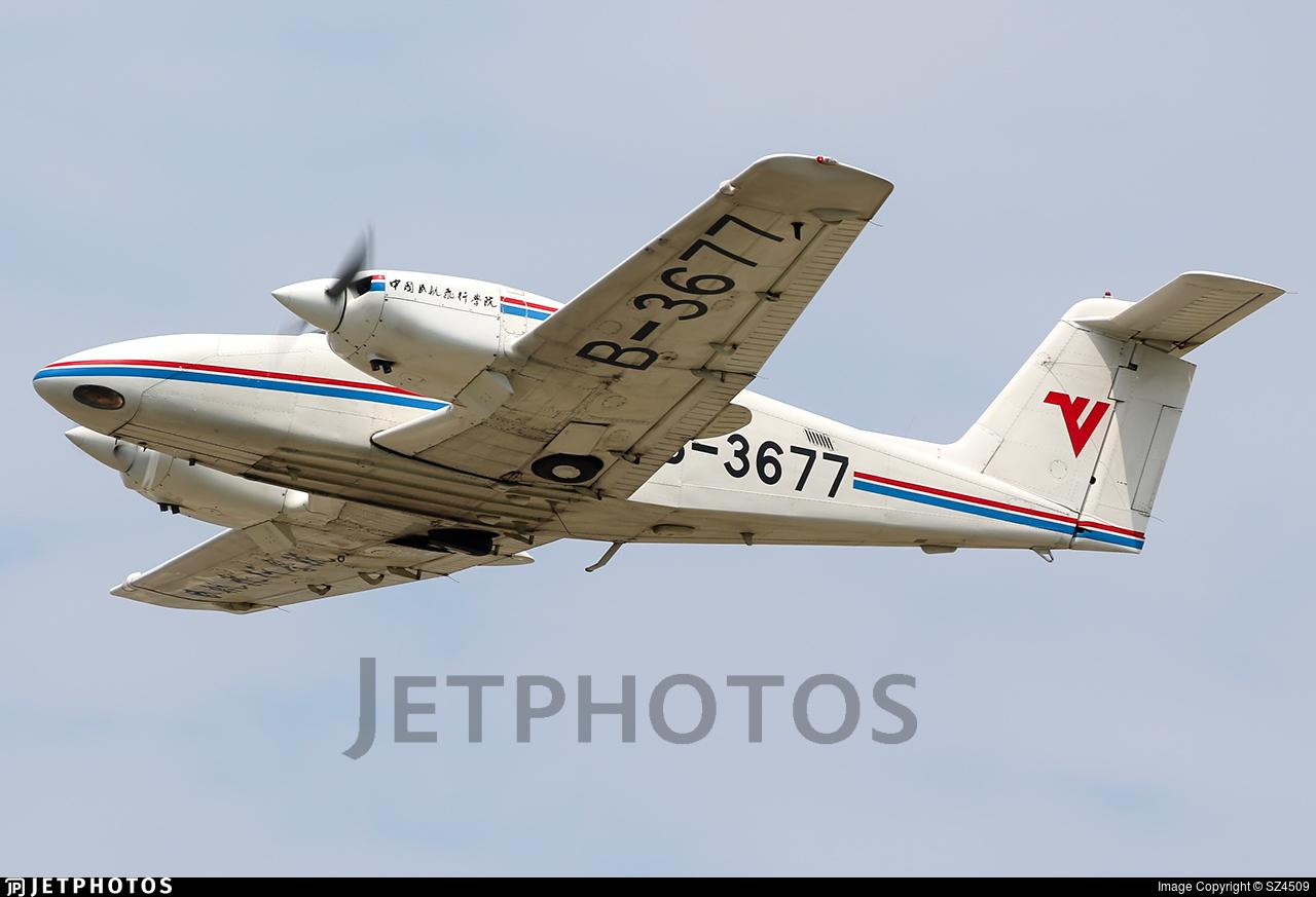 B-3677 - Piper PA-44-180 Seminole - Civil Aviation Flight University of China