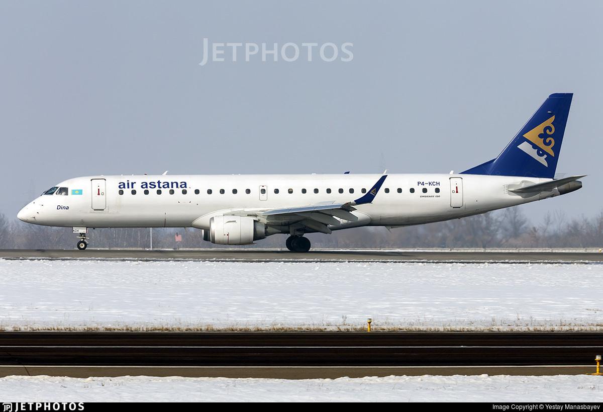 P4-KCH - Embraer 190-100LR - Air Astana