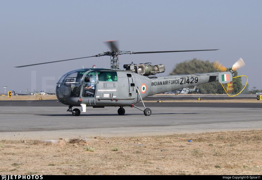 ZI429 - Hindustan Aeronautics SA 316B Chetak - India - Air Force