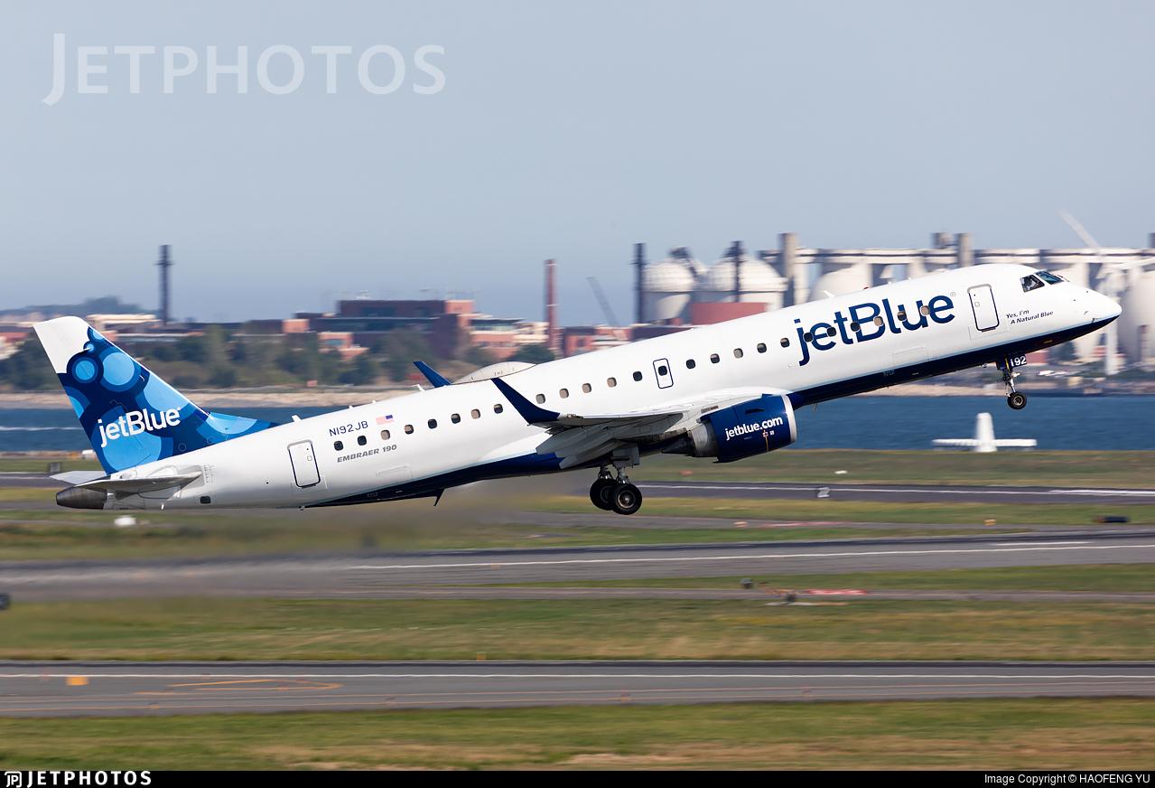 N192JB - Embraer 190-100IGW - jetBlue Airways