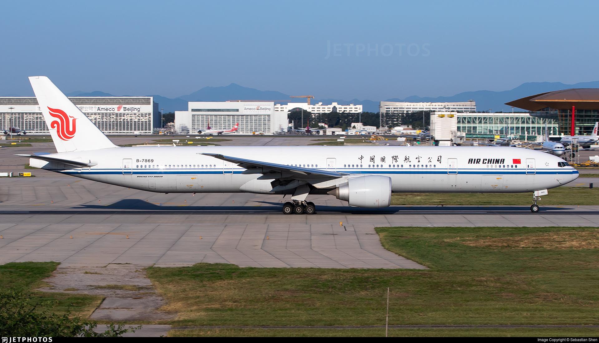 B-7869 - Boeing 777-39LER - Air China