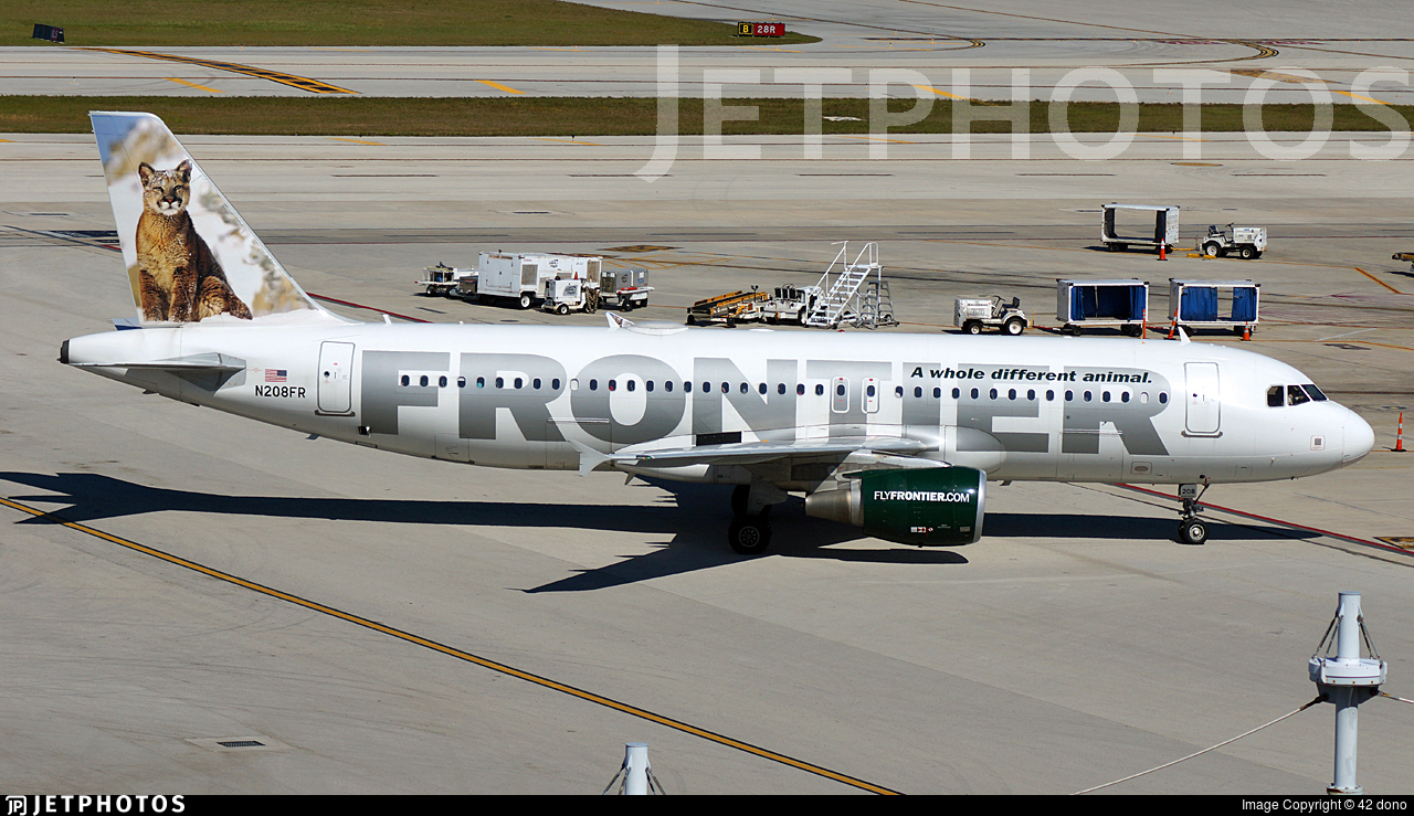 N208FR - Airbus A320-214 - Frontier Airlines