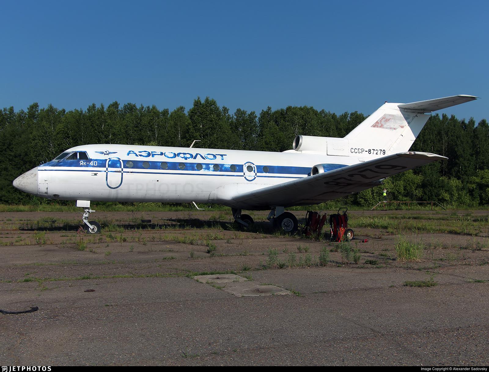 CCCP-87279 - Yakovlev Yak-40 - Aeroflot