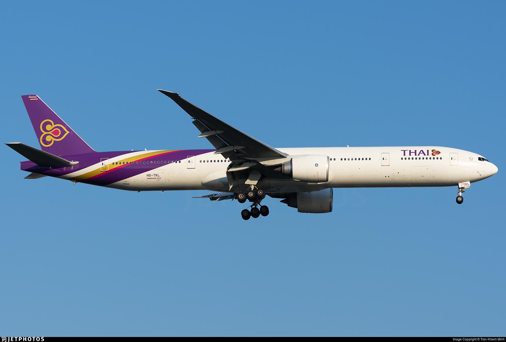 HS-TKL - Boeing 777-3ALER - Thai Airways International