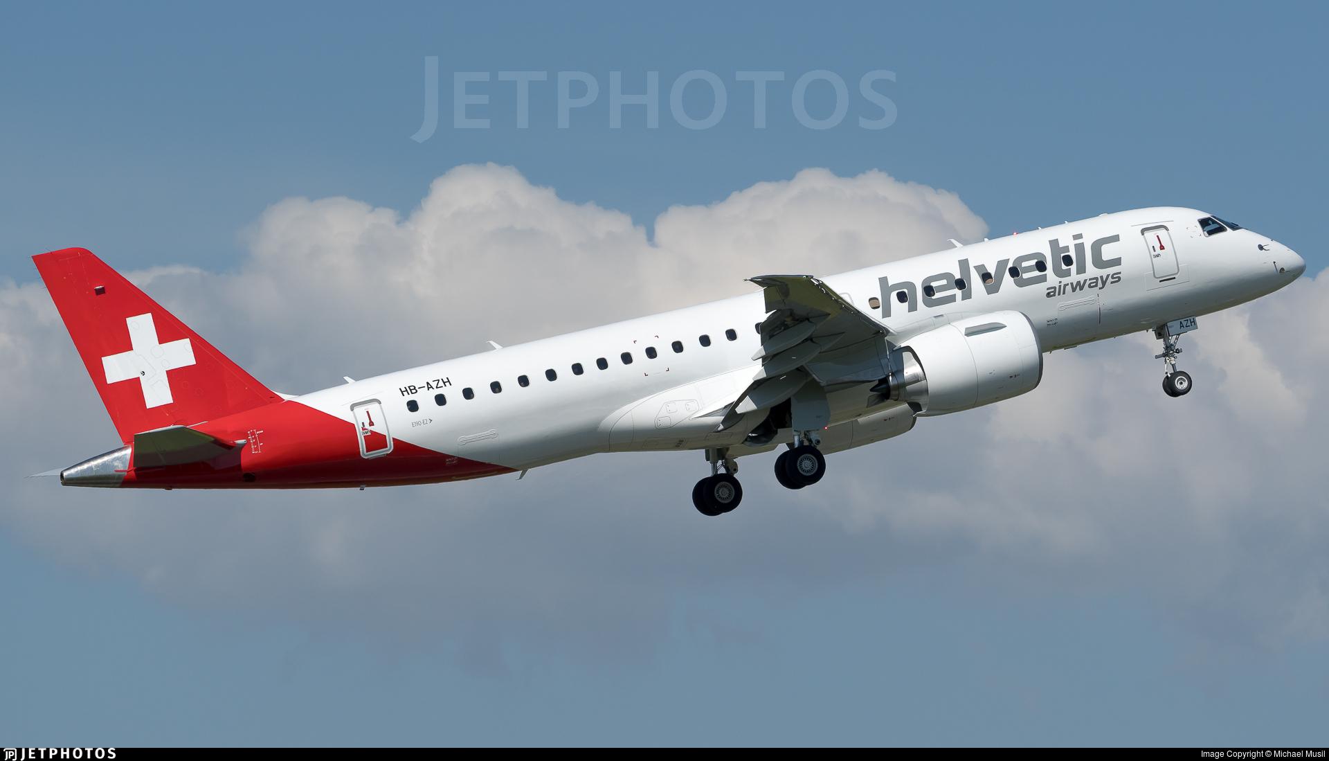 HB-AZH - Embraer 190-300STD - Helvetic Airways