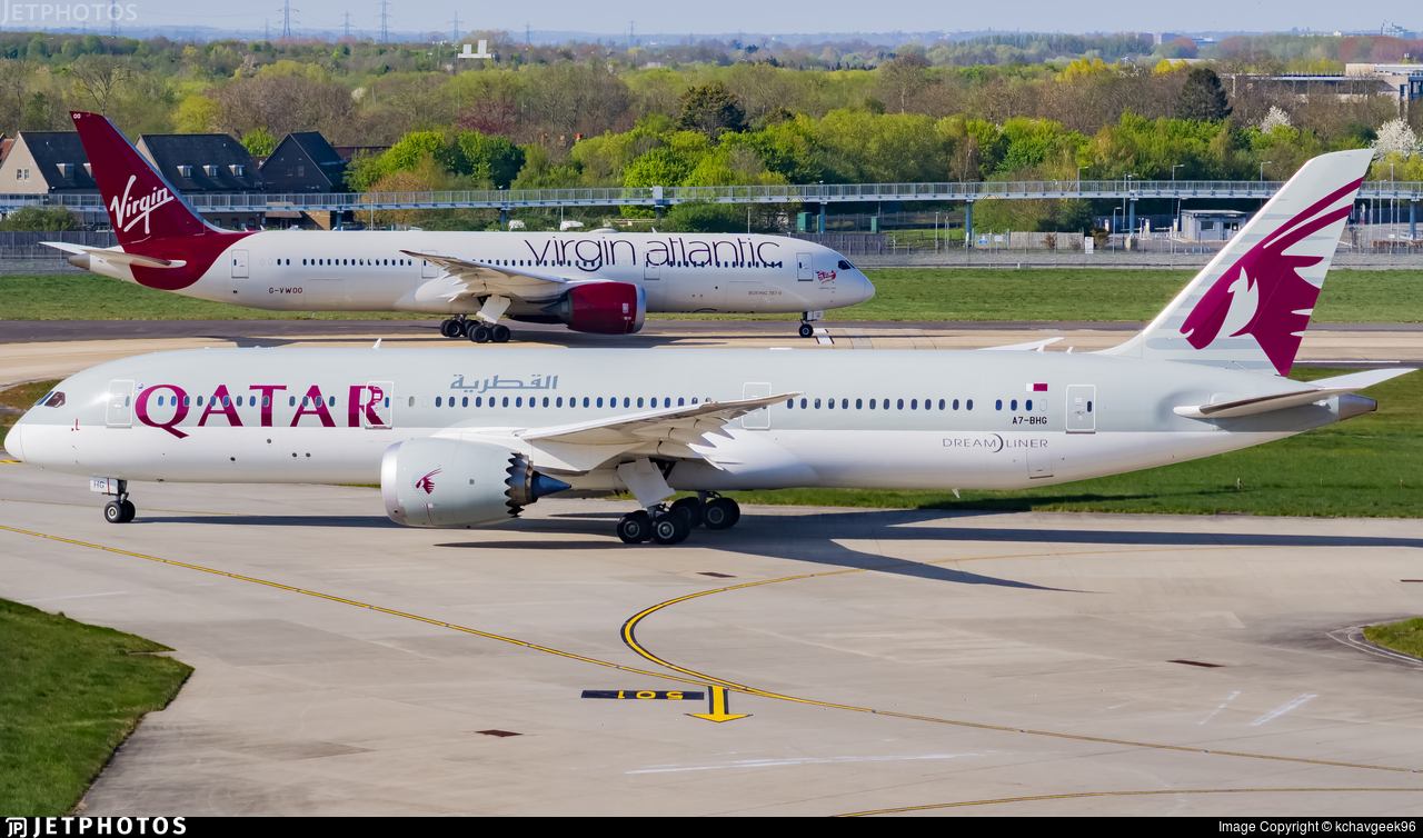A7-BHG - Boeing 787-9 Dreamliner - Qatar Airways