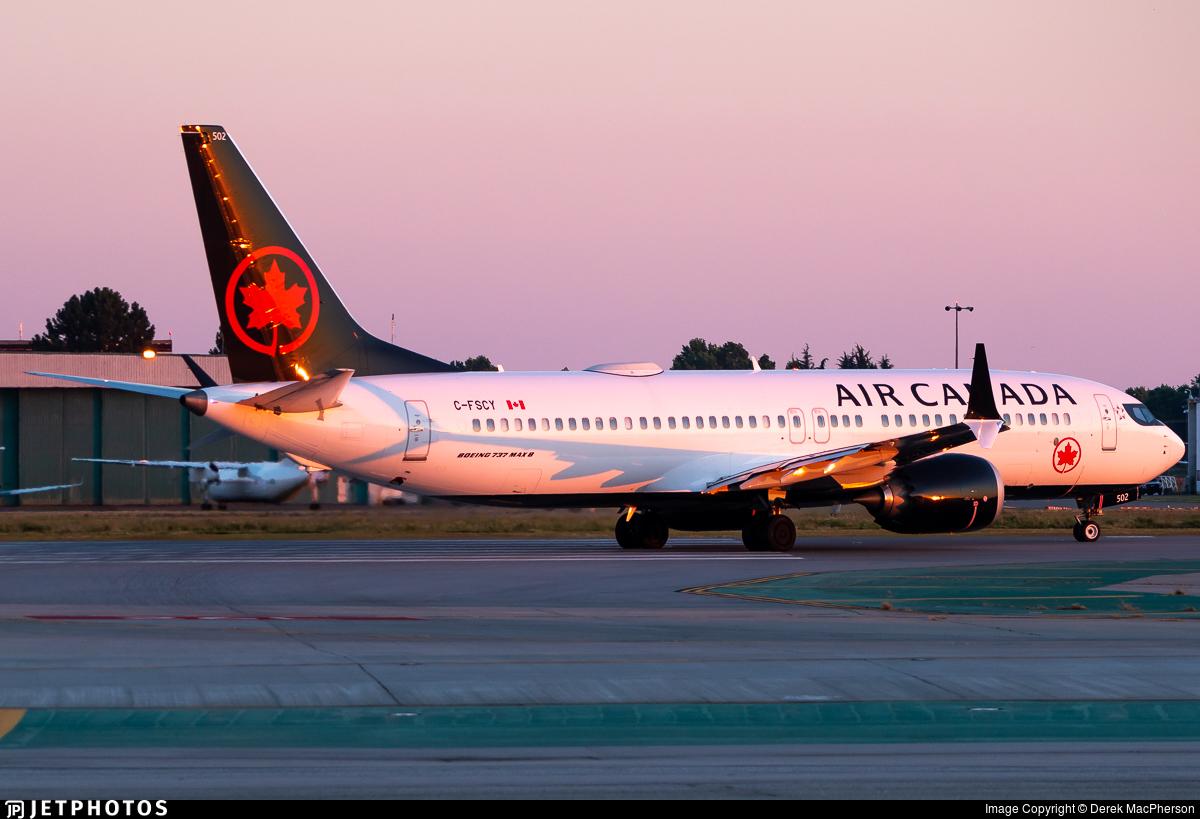 C-FSCY - Boeing 737-8 MAX - Air Canada