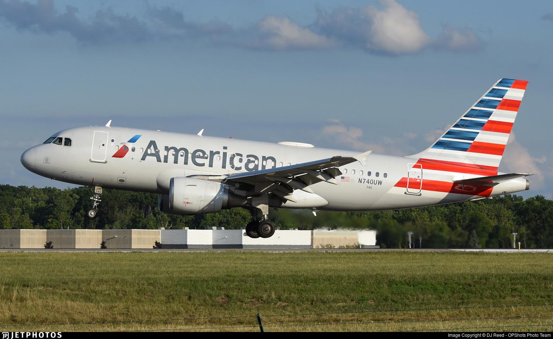 N740UW - Airbus A319-112 - American Airlines
