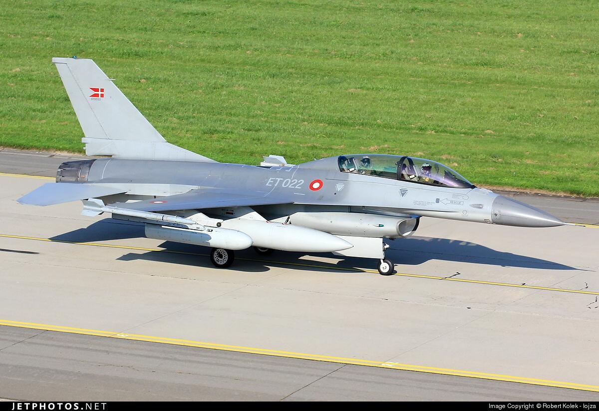 ET-022 - General Dynamics F-16BM Fighting Falcon - Denmark - Air Force