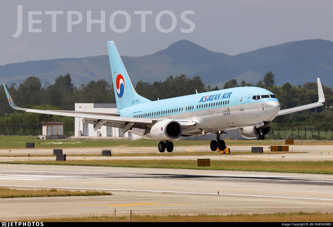HL7757 - Boeing 737-8GQ - Korean Air