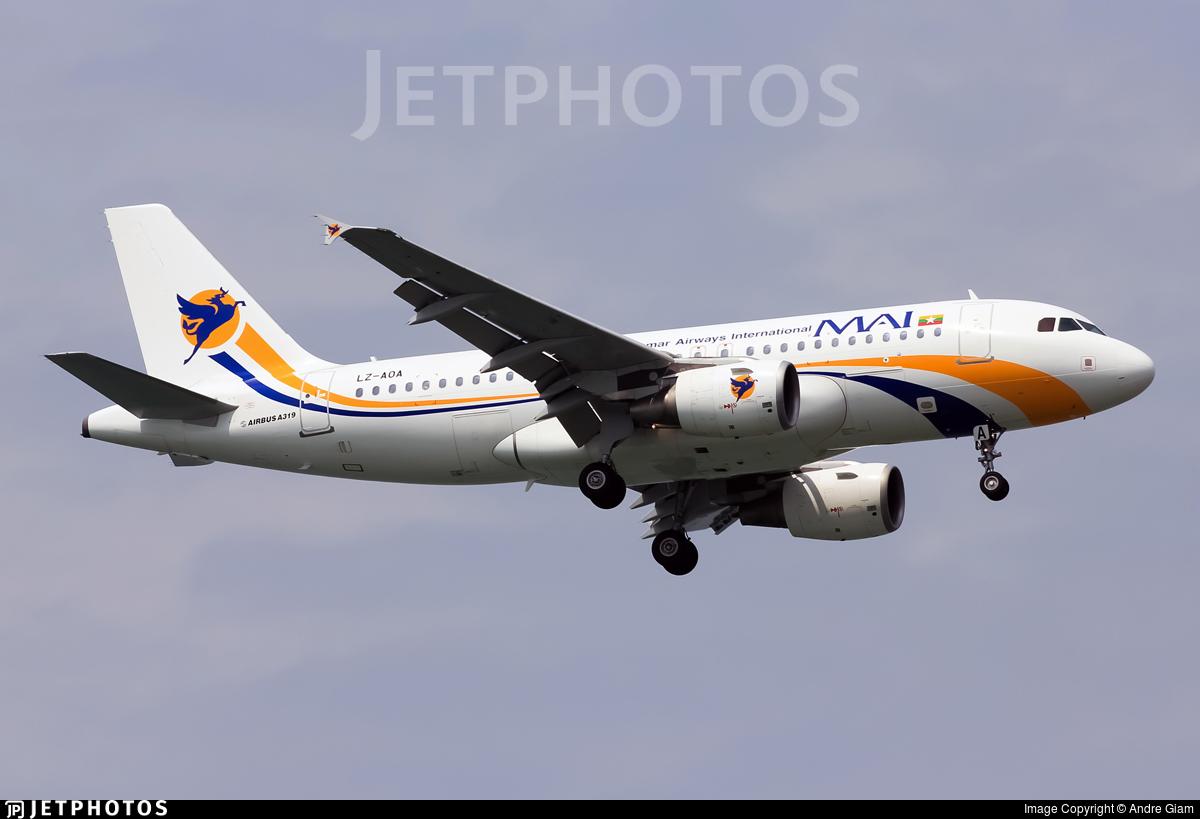 LZ-AOA - Airbus A319-111 - Myanmar Airways International (BH Air)