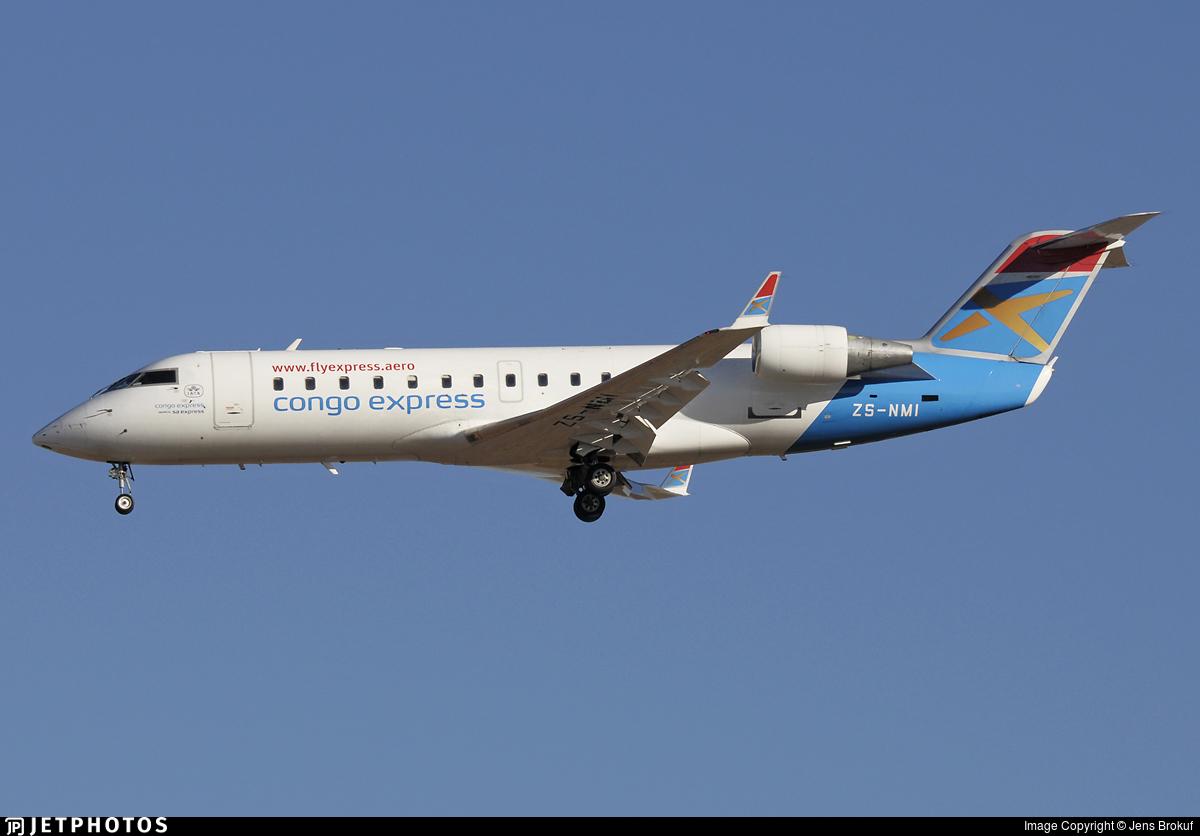 ZS-NMI - Bombardier CRJ-200ER - Congo Express (South African Express)