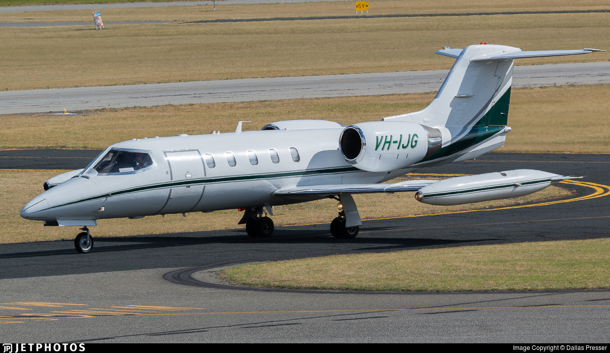 VH-IJG - Gates Learjet 35A - Private