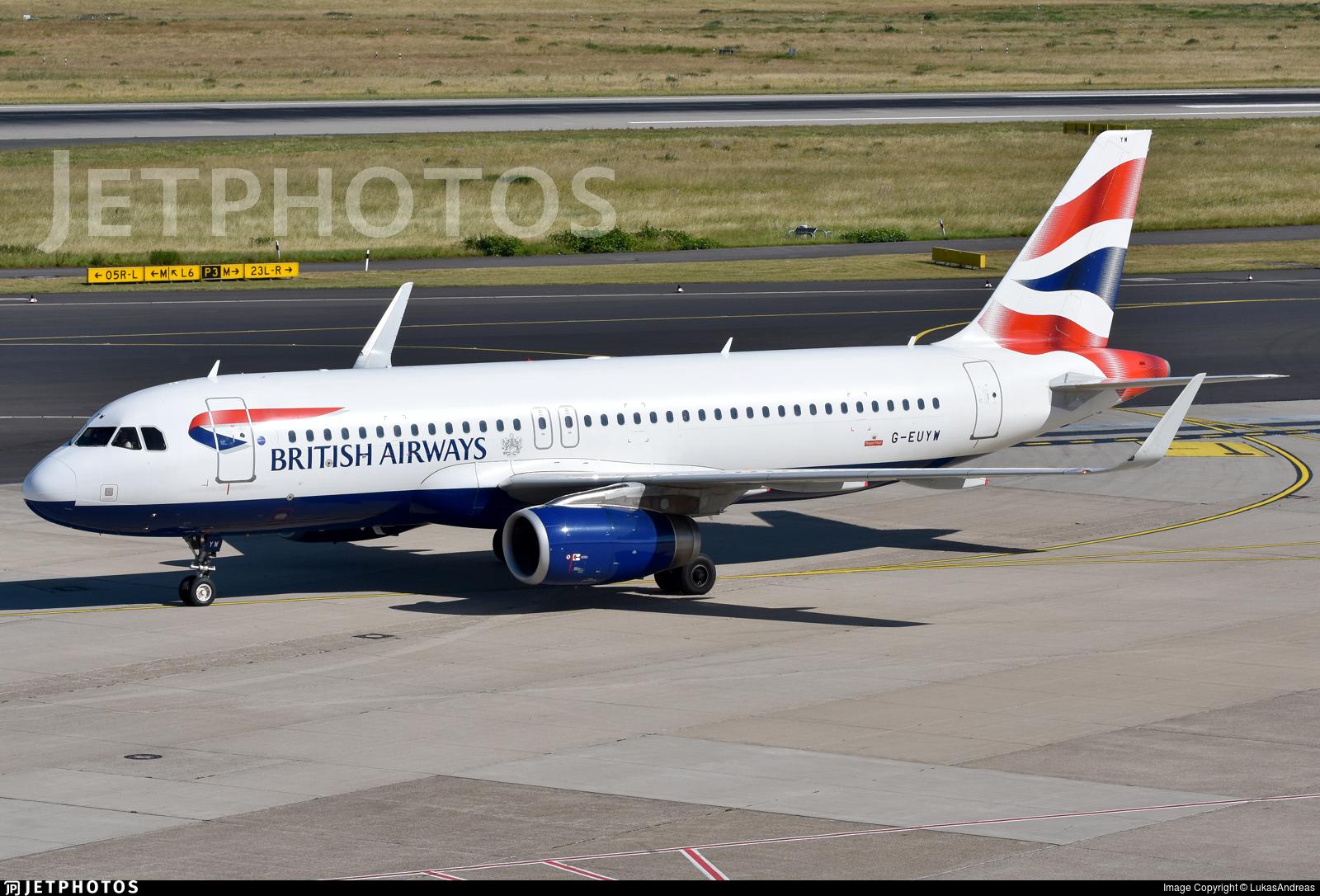 G-EUYW - Airbus A320-232 - British Airways